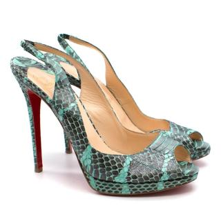 Christian Louboutin Python Private Number 120 mm