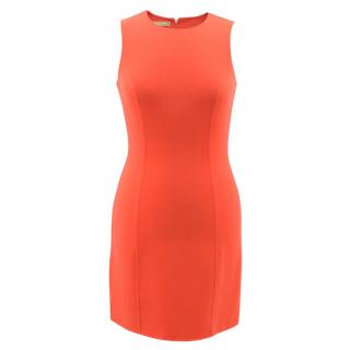 Michael Kors Collection Orange Neon Mini Dress