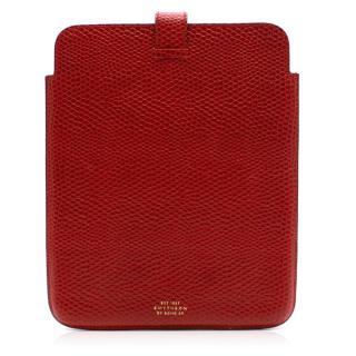 Smythson of Bond St. Embossed Leather iPad Case