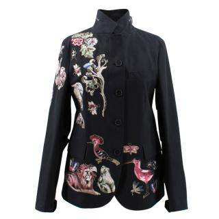 Valentino Floral Embroidered Jacket