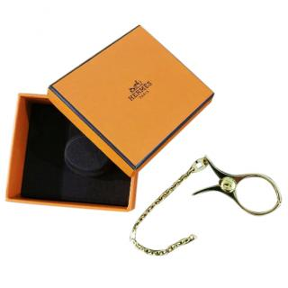 Hermes Gold Filou Glove clip
