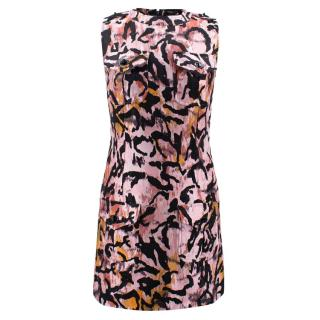 Tom Ford Pink Leopard A line Mini Dress