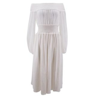 Altuzarra White Cotton Dress