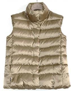 Ralph Lauren Sport metallic bronze down vest gilet