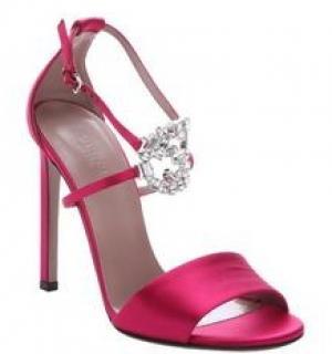 Gucci D'orsay Swarovski  Pink Satin Heels 4