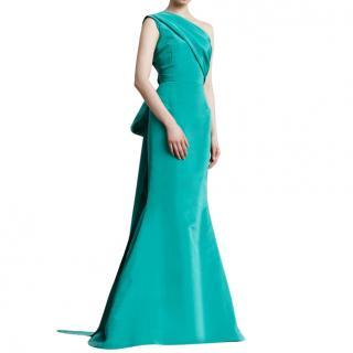 Oscar De La Renta oneshoulder silk dress
