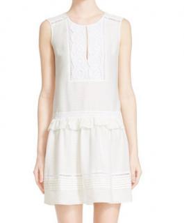 Burberry Brit White Drop Waist Dress