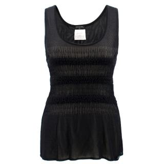 Chanel Black Ribbed Top
