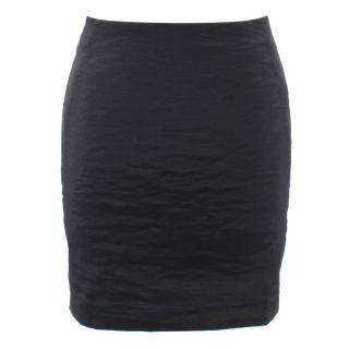 Donna Karan Fitted Textured Mini Skirt