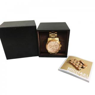 Michael Kors Runway Rose Gold-Plated Watch SP