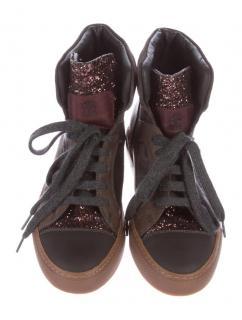 Brunello Cucinelli suede glitter shoe boots trainers