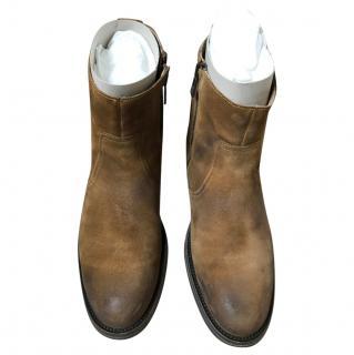 Belstaff Cognac Suede Boots