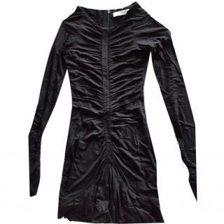 Balmain black bodycon dress size 10