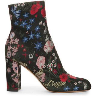 Valentino floral ankle boots
