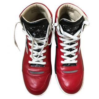 Dolce & Gabbana Red High Top Trainers