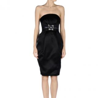 Mathew Williamson LBD Satin Embellished Dress