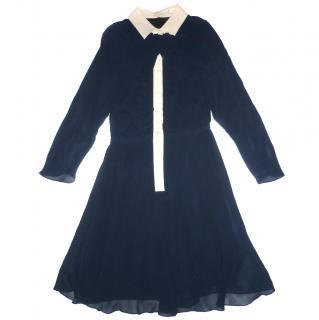 Carven navy Silk Dress