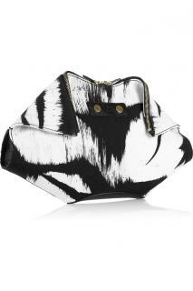 Alexander McQueen black and white De Manta clutch