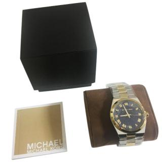 Michael Kors Channing Silver and Gold-Tone Watch