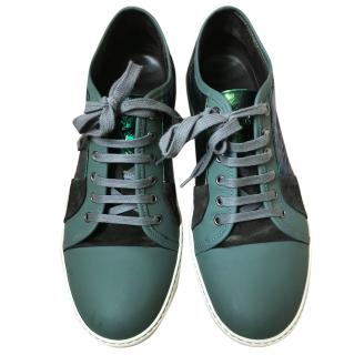 Lanvin Metallic and rubber trainers