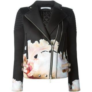 Givenchy Neoprene floral print biker jacket