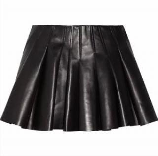 Alexander Wang pleated leather skirt