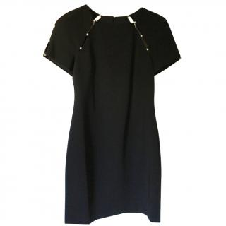 Alice & Olivia black fitted dress with pearl decoration