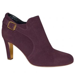 Rupert Sanderson Jocasta Grape Purple Suede ankle boots