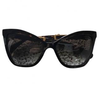Chanel Cats Eyes Sunglasses with embroidered flowers