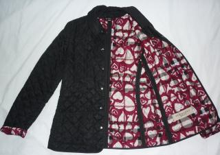 Burberry Brit  Quilted Limited Edition Print Jacket