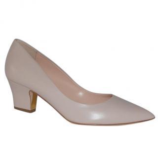 Rupert Sanderson Pink Leather Mid Heel Shoes/Pumps