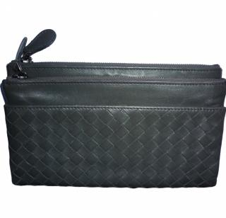 Bottega Veneta Grey Napa Leather Purse Wallet