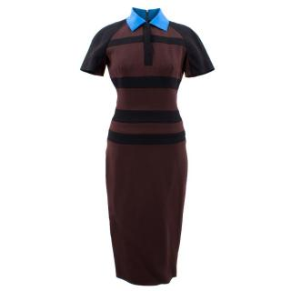 Victoria Beckham Polo Stripe Silk Dress