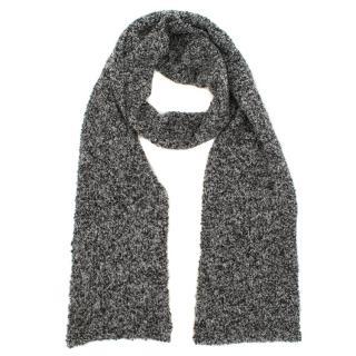 Dolce & Gabbana Grey Knitted Wool Scarf