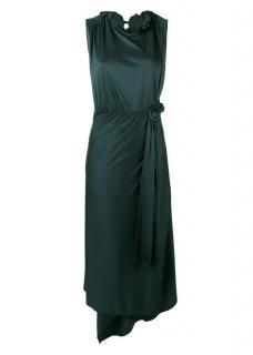 Vetements green silk dress