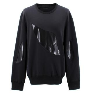 Alexander McQueen Patent Leather Cut-out Jumper