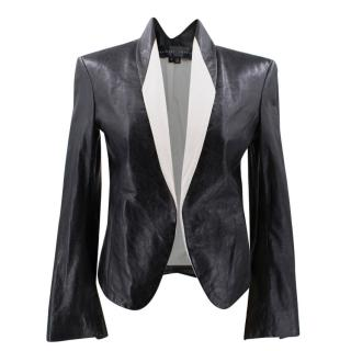 Theyskens' theory black leather jacket
