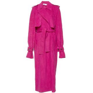 Wanda Nylon Suede Trench Coat