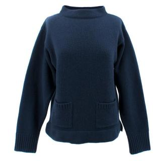 Margaret Howell Wool Navy Jumper