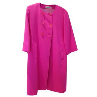 Louise Kennedy hot pink Melissa coat