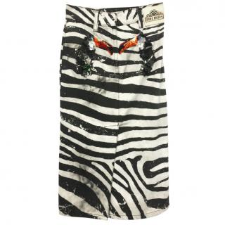 Marc Jacob toucan motif zebra skirt