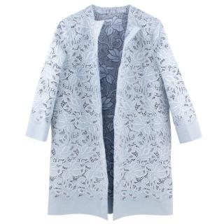 Ermanno Scervino Pale Blue Lace Coat