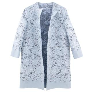 Ermanno Scervino Pale Blue Lace Coat
