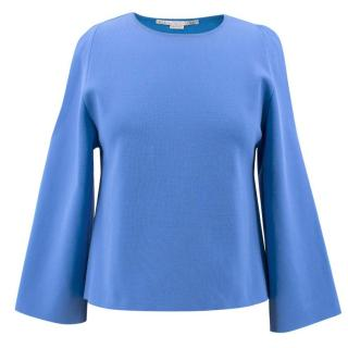Stella McCartney Blue Shouder Cut out Top