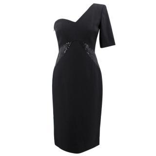 Michael Kors One Shoulder Sequin Embellished Dress