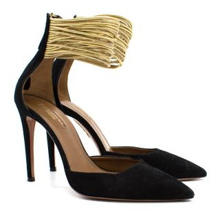 Aquazurra Hello Lover Suede Pumps