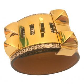 Hermes Ombre Lizard Collier de Chien size S