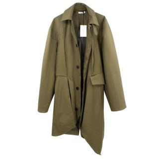 J.W. Anderson Bold Shoulder Military Green Trenchcoat