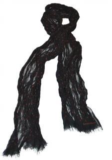 Bottega Veneta black silk red polka dot pleated scarf
