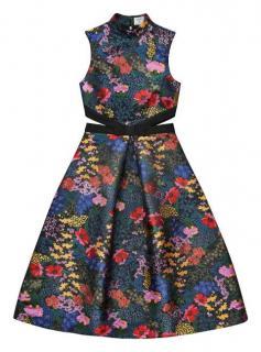 Erdem H&M Floral Jacquard Patterned Dress